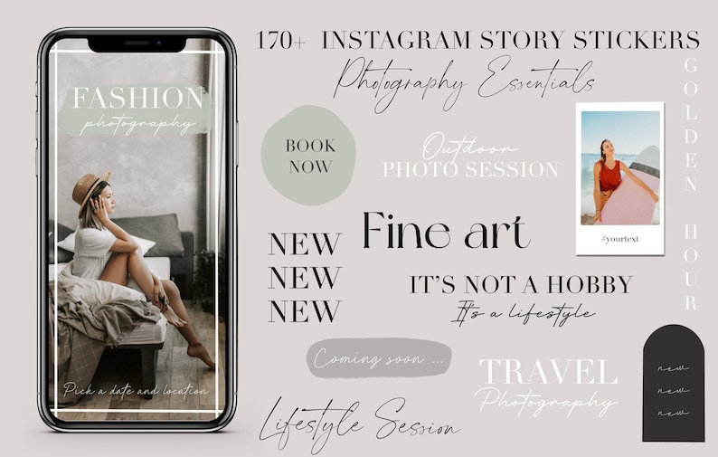 150 Instagram Story Stickers for Photographers  Wedding image 0