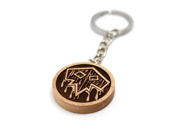World of Warcraft   WOW   Wooden Keychains   Logo Classes   Laser Engraving   Accessory   Gift   Handmade   Fan Art