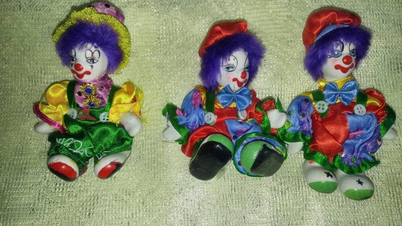Rare Vintage collectible Porcelain Clown dolls