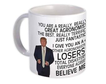 Mug Best Agronomist Birthday Christmas Jobs AGRONOMIST Gift Funny Trump