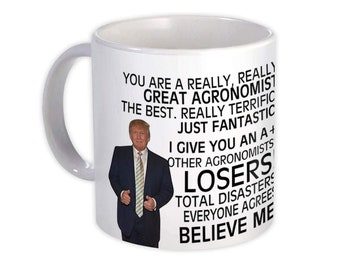AGRONOMIST Gift Funny Trump Mug Best Agronomist Birthday Christmas Jobs
