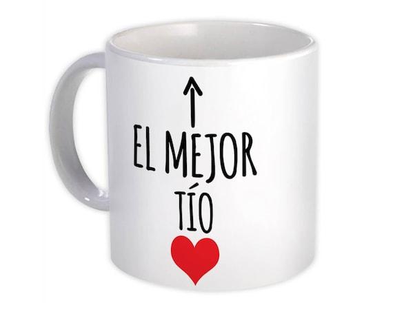 Gift Mug Grandpa Heart Love Family Spanish Espanol Christmas El Mejor Suegro