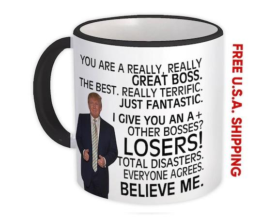 BOSS Gift Funny Trump Mug Best Boss Birthday Christmas Gift Jobs