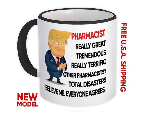 PAPA Gift Funny Trump Mug Best Papa Birthday Christmas Jobs