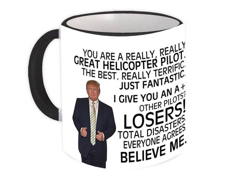 Mug Best Pilot Birthday Christmas Jobs PILOT Gift Funny Trump