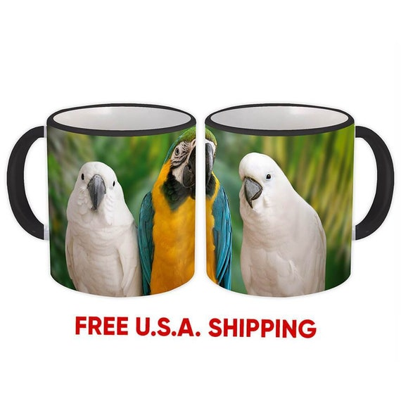 Kitchen Dining Bar Mug Bird Macaw Tropical Nature Ecology Funny Gift Parrot And Cockatoo Rudisbakery Com