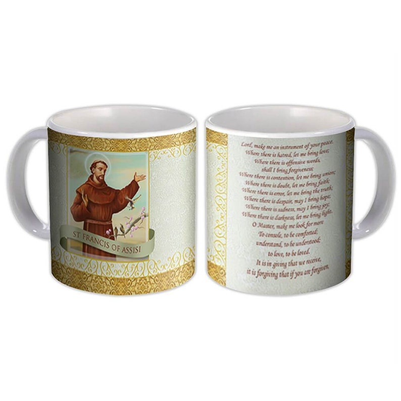 Catholic Mug Religious Saint San Francis of Assisi