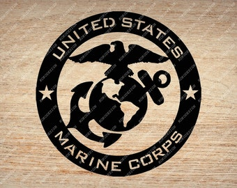 picture about Printable Marine Corps Emblem titled Maritime corps svg Etsy