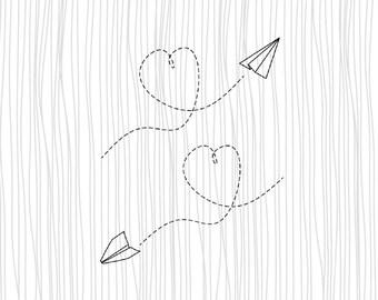 Paper Plane Tattoo Etsy