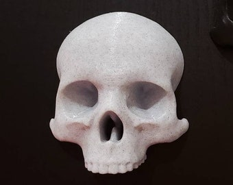 Hanging Skull Wall Art || gothic home decor halloween accessory goth witch gallery wall || 3D printed