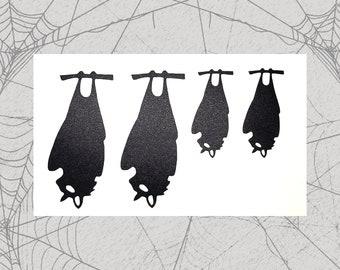 Bat Family Permanent Vinyl Decal || Gothic Home Decor Halloween Decoration Witch Pentagram Car Accessories Bumper Sticker