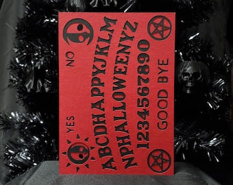 Ouija Board Happy Halloween Greeting Card || Holiday Goth Occasion Dark Love Cursed Occult Summon Spirits Witchy Halloween Card
