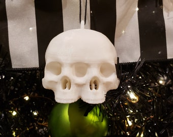 Conjoined Skull Tree Ornament || gothic holiday decoration goth accessories yule bauble xmas adornment christmas halloween