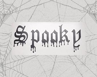 Spooky Permanent Vinyl Decal || Gothic Home Decor Halloween Decoration Witch Pentagram Car Accessories Bumper Sticker