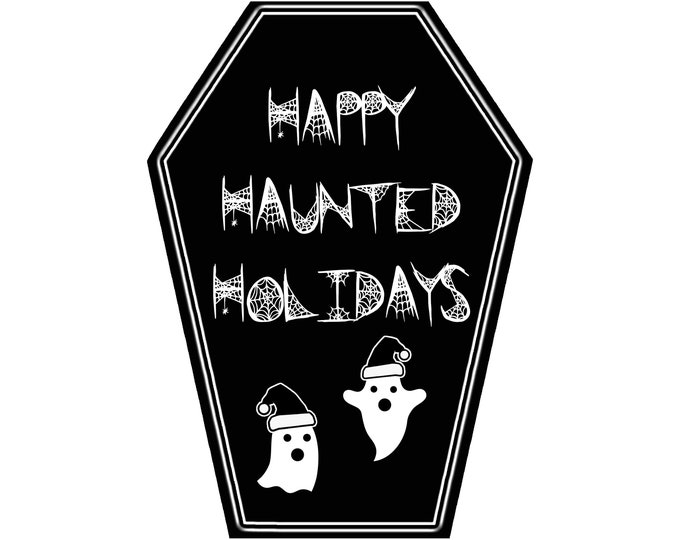 Featured listing image: Happy Haunted Holidays Greeting Card