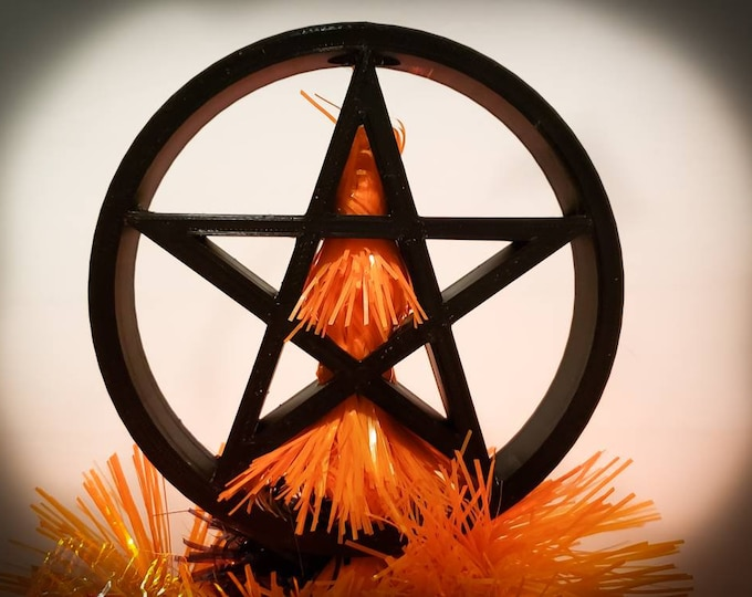 Featured listing image: Pentagram / Pentacle Reversible Tree Topper