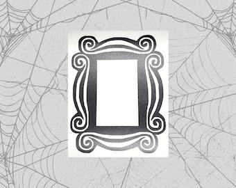 Unfriendly Peep hole Frame Permanent Vinyl Decal || Gothic Home Decor Halloween Decoration Witch Pentagram Car Accessories Bumper Sticker
