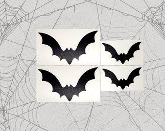 Bat Pack decals 4 pack Permanent Vinyl Decal || Gothic Home Decor Halloween Decoration Car Accessories Bumper Sticker