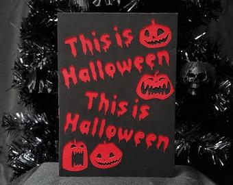 This is Halloween Greeting Card || Pumpkin Holiday Goth Occasion Dark Love Cursed Jack-O-Lantern Halloween Card