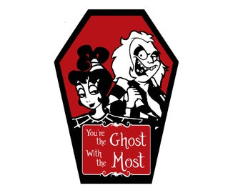 Ghost with the Most Coffin Greeting Card ll Valentine's Day, Anniversary, Birthday, Goth, Gothic, Tim Burton, Love, Occasion, Holiday, Dark