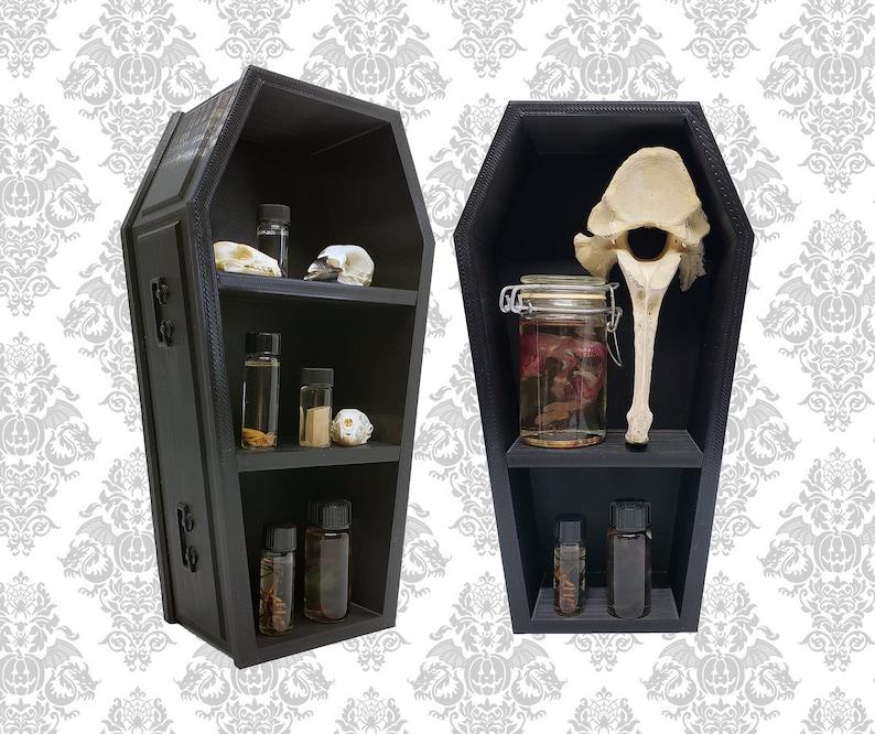 Classic Coffin Shelf 10 inch Tall  Gothic Home Decor Goth image 0