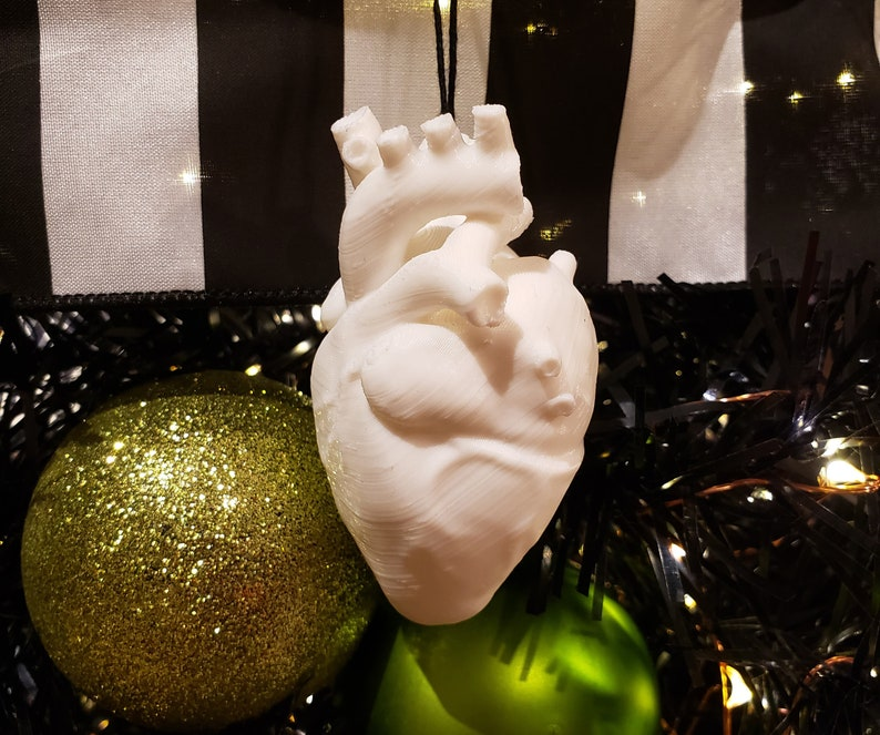 Anatomical Heart Tree Ornament  gothic holiday decoration image 0