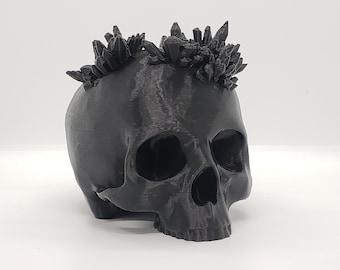Large Crystal Skull Halloween Decor     goth gothic accessories 3d print human skull witch witchy home decor punk