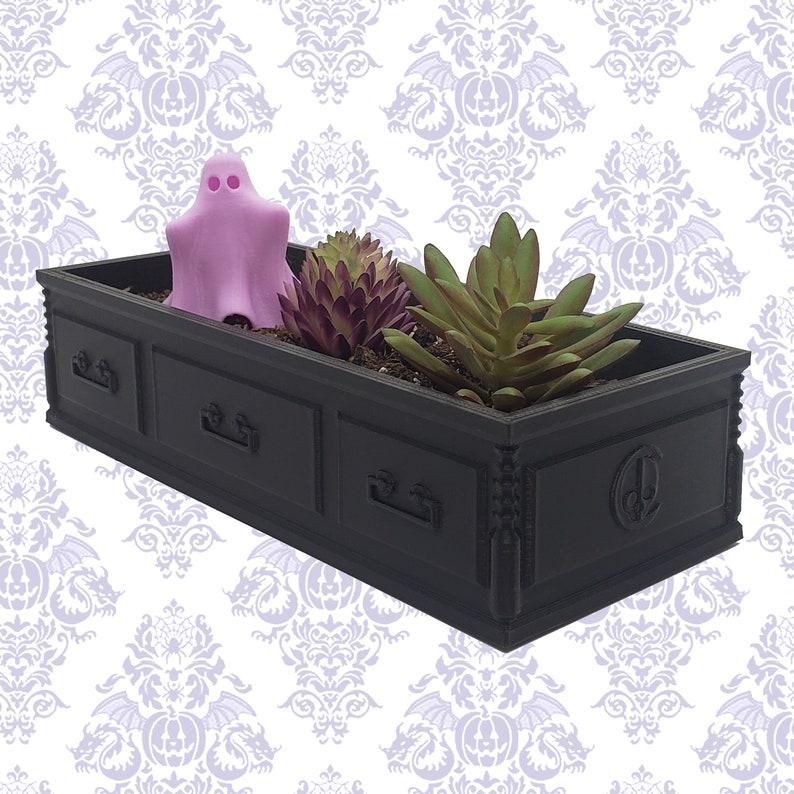 Casket Succulent Planter  goth gothic garden accessories image 1