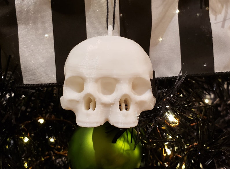 Conjoined Skull Tree Ornament  gothic holiday decoration image 0