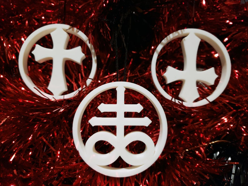 Choose your Cross Tree Ornament Inverted Leviathan  gothic image 0