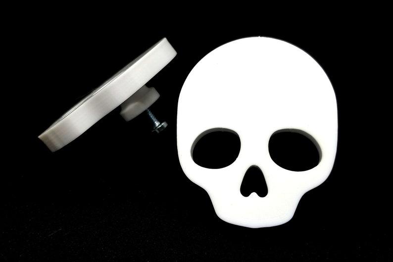 Skull Cabinet Knob  gothic home decor kitchen cabinet drawer image 0
