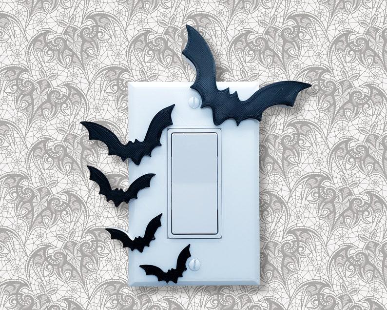 Bat Light Switch Cover  gothic goth home decor lightswitch Single Rocker Switch