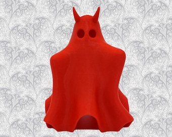 Unfriendly Ghost Figurine Decoration Halloween    Gothic Home Decor Lamp Goth Witchy Ornament Haunted House Evil Accessory    3D Printed