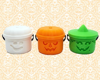 Halloween Bucket Decoration    Gothic Home Decor Ghost Goblin Witch Ornament Haunted Spooky Tree Hanger Tealight Holder    3D Printed