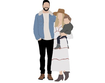 Faceless Family Drawing