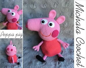 Peppa Pig Amigurumi Toy Free Crochet Pattern 2020 - eeasyknitting. com | 270x340