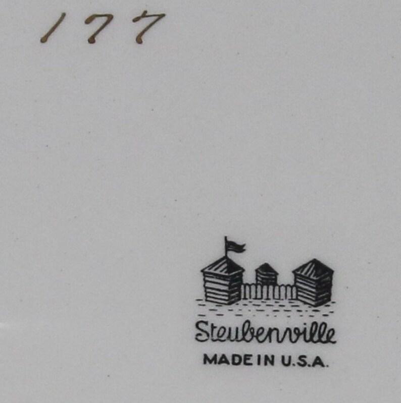Steubenville platter and serving dish.