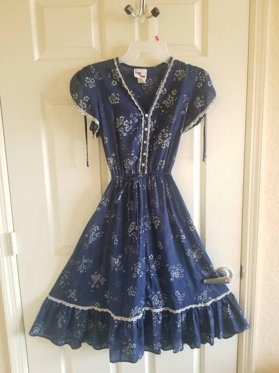 Vintage prarie midi dress gunne sax style