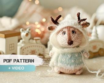 Deer pattern, christmas reindeer, deer amigurumi, reindeer crochet, tutorial toy, stuffed deer toy, reindeer tutorial, pdf pattern deer