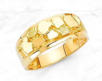 14k Gold Nugget Ring Etsy