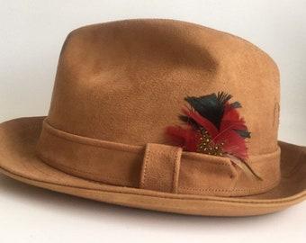 6432c7a9bd09c Vintage Fedora Hat Knox Suede