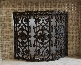 Magnificent Fireplace Screen Etsy Beutiful Home Inspiration Ommitmahrainfo