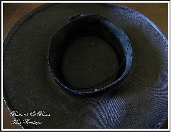 Vintage 1940's Wide Brim Tilt Hat~ - image 6