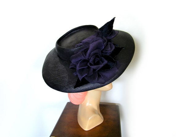 Vintage 1940's Wide Brim Tilt Hat~ - image 3