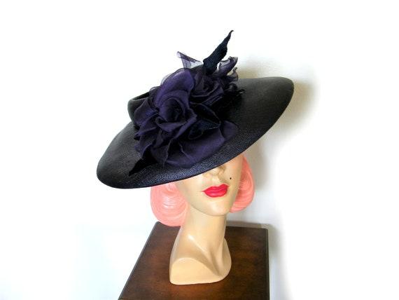 Vintage 1940's Wide Brim Tilt Hat~ - image 2