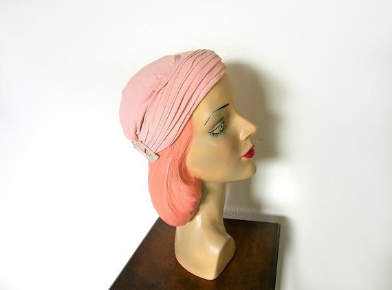 Vintage 1940's Blush Pink Turban~