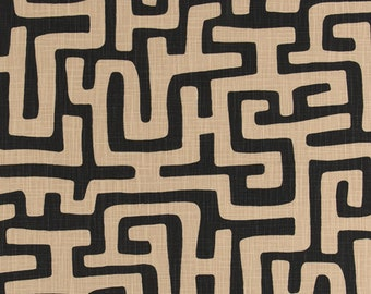 Reproduction  Arrow Boho Vintage Premier Prints Fabric By the Yard Mud Cloth Boho Ink Flax