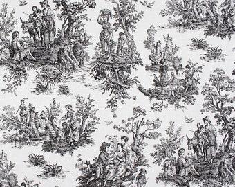 "Premier Prints Fabric - Colonial Black - 54"" wide"