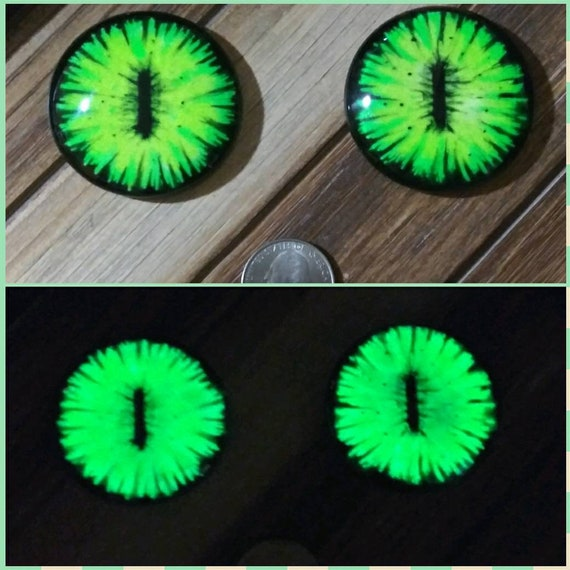 35mm Glass Eye Cabochon Hand Painted