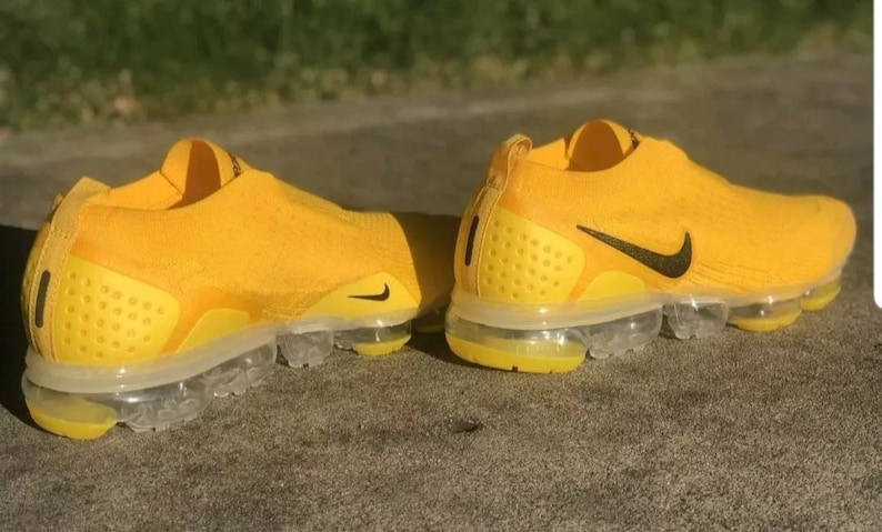 reputable site 0e41a 1f5c1 Nike air max vapormax 2019 moc 2 yellow black red white moc2 vapor max  shoes sneakers men laceless summer deal Flyknit white laces work out